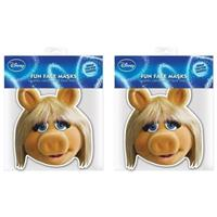 Muppets 2x Miss Piggy maskers Multi
