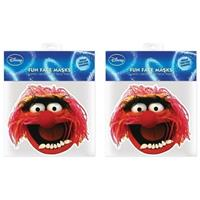 2x Animal Muppetshow maskers Multi