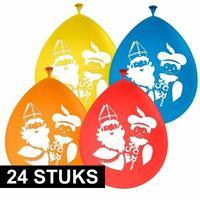24x Sinterklaas en Piet ballonnen Multi