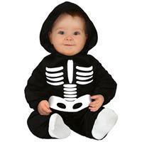 Halloween - Zwart/wit skelet verkleedpak voor baby/peuter Multi