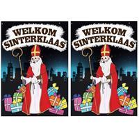 Shoppartners 2x Deurposter Welkom Sinterklaas A1 formaat Multi