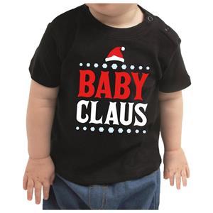 Bellatio Kerstshirt Baby Claus zwart peuter jongen/meisje 92 (11-24 maanden) Zwart