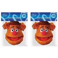 2x Fozzy Beer Muppetshow maskers Multi