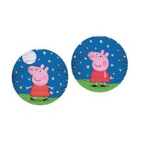 2x Peppa Pig thema lampionnen rond 25 cm Multi