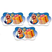 3x Feest bord Welkom Sinterklaas 43 cm Blauw
