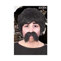 Grote zwarte snor Dorus Zwart