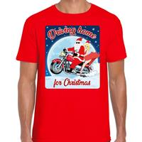 Bellatio Fout kerst t-shirt driving home for christmas rood heren Rood