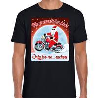 Bellatio Fout kerst t-shirt no presents for kids zwart heren Zwart