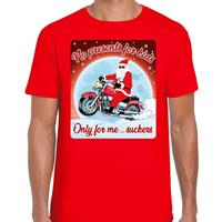 Bellatio Fout kerst t-shirt no presents for kids rood heren Rood