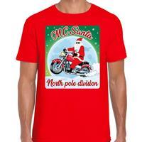 Bellatio Fout kerst t-shirt MC Santa rood heren Rood