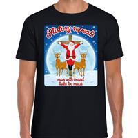 Bellatio Fout kerst t-shirt history repeats zwart voor heren