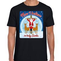 Bellatio Fout kerst t-shirt now I believe zwart voor heren