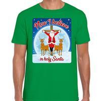 Bellatio Fout kerst t-shirt now I believe groen voor heren