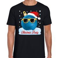 Bellatio Fout kerst shirt Christmas party zwart voor heren