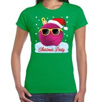 Bellatio Fout t-shirt Christmas party groen voor dames