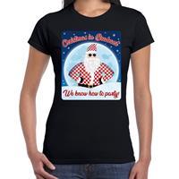 Bellatio Fout kerst shirt Christmas in Brabant zwart voor dames
