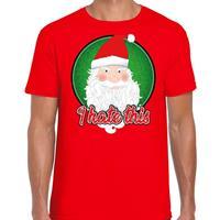 Bellatio Fout kerst shirt I hate this rood voor heren