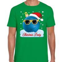 Bellatio Fout kerst shirt Christmas party groen voor heren