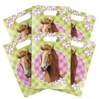 6x Paarden themafeest feestzakjes/uitdeelzakjes Multi