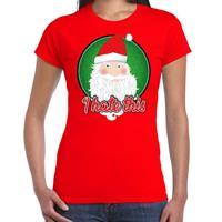Bellatio Fout kerst shirt I hate this rood voor dames