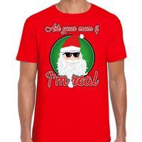 Bellatio Fout Kerstshirt cool Santa I am real rood voor heren