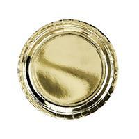 12x Gouden feest borden van karton 23 cm Goudkleurig