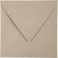 Creotime enveloppen 16 x 16 cm 50 stuks 120 g beige