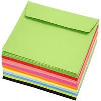Creotime enveloppen 16 x 16 cm 100 stuks 80 g multicolor