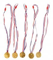 Free and Easy medaille goud 3,5 cm 5 delig