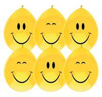 Haza Original ballonnen Smile geel 6 stuks 30 cm