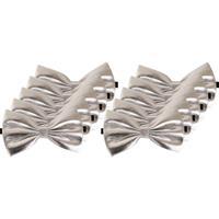 10x Zilveren verkleed vlinderstrikjes 14 cm voor dames