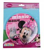 Disney button Minnie Mouse 14 cm roze