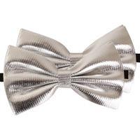 2x Zilveren verkleed vlinderstrikjes 14 cm voor dames