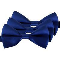 3x Blauwe verkleed vlinderstrikjes 12 cm voor dames