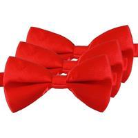 3x Rode verkleed vlinderstrikjes 12 cm voor dames