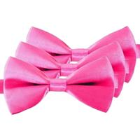 3x Roze verkleed vlinderstrikjes 12 cm voor dames