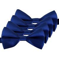 4x Blauwe verkleed vlinderstrikjes 12 cm voor dames