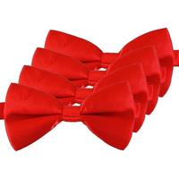 4x Rode verkleed vlinderstrikjes 12 cm voor dames