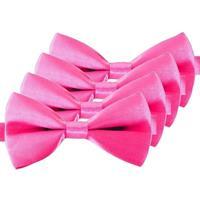 4x Roze verkleed vlinderstrikjes 12 cm voor dames
