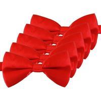 5x Rode verkleed vlinderstrikjes 12 cm voor dames