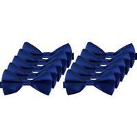 10x Blauwe verkleed vlinderstrikjes 12 cm voor dames