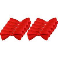 10x Rode verkleed vlinderstrikjes 12 cm voor dames
