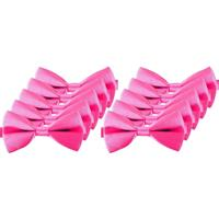 10x Roze verkleed vlinderstrikjes 12 cm voor dames