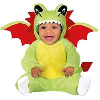 Dierenpak draken verkleed kostuum voor baby/peuter 12-24 mnd Groen