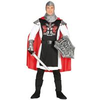 Middeleeuwse ridder met cape verkleed kostuum voor heren