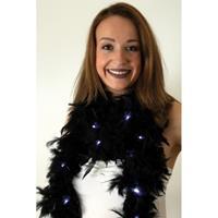 Boa zwart met LED verlichting 180 cm Zwart
