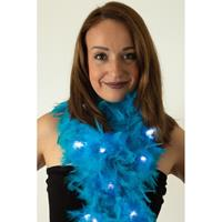 Boa turquoise met LED verlichting 180 cm Turquoise