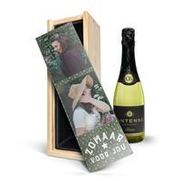 YourSurprise Wijn in bedrukte kist - Vintense Blanc Fines Bulles