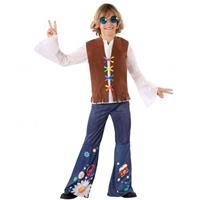 Fiesta carnavales Hippie/Flower Power verkleed kostuum voor jongens