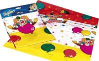Haza Original tafelkleed clown 120 x 180 cm multicolor
